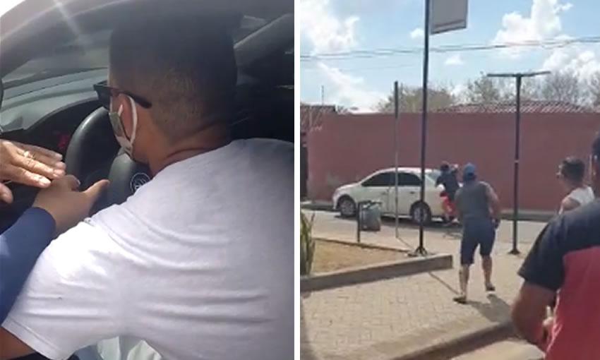 Motoristas de aplicativo tentam depredar carro de Uber que estava 'desaparecido'
